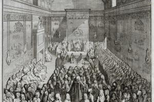 The House of Lords, 1755 (detail)