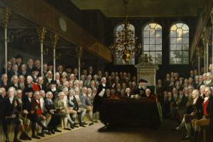 Pitt addressing the House of Commons, 1793